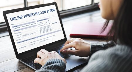 Online Application Form Document Concept Stock Photo