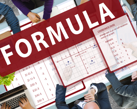 Business meeting with formula concept