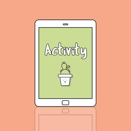 Activity concept on digital tablet