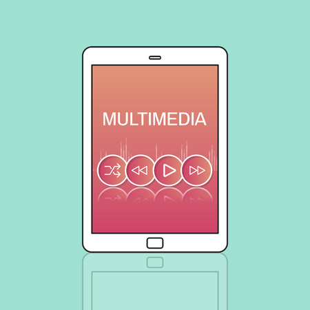 multimedia icons: Multimedia Buttons Icons Interface Concept