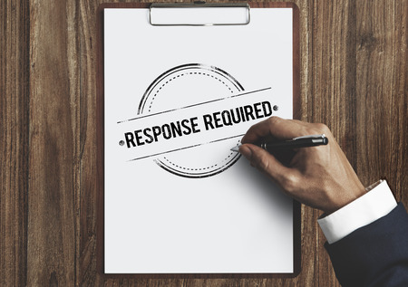 the requirement: Response Request Required Feedback Information Concept Stock Photo