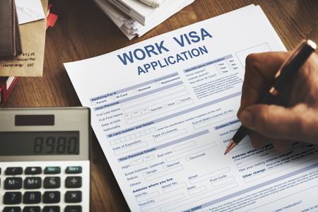 Work Visa Application Law Legal Concept