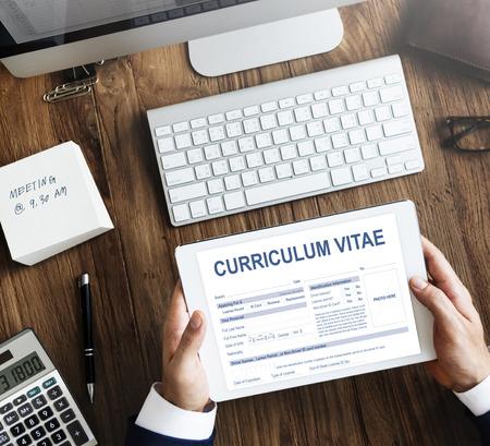 curriculum: Curriculum Vitae Resume Job Application Concept Stock Photo