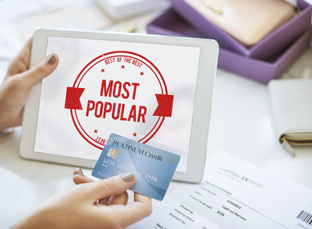 desired: Most Popular Trendy Commercial Cool Wanted Concept Stock Photo