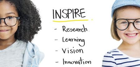 imagine a science: Inspire Education Learn Diagram Concept