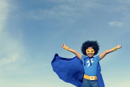 Concept de petit garçon super héros Banque d'images - 66018513