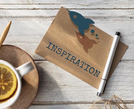inspiration: Target Strategy Imagination Inspiration Concept