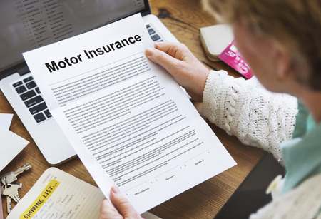 insurer: Motor Insurance Legal Claim Contract Documents Concept Stock Photo