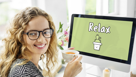 Relax concept on computer screen