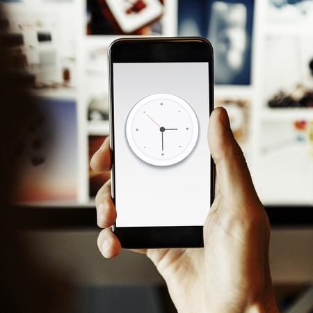 agenda browse: Clock Watch Time Moment Concept Stock Photo