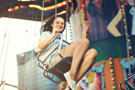 Swing Spining Amusement Carninal Plezier Concept Stockfoto