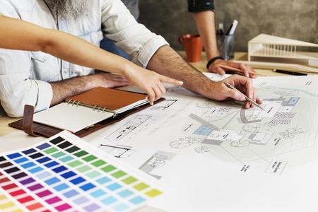 Design Studio Architecte Creative Meeting Occupation Blueprint Concept