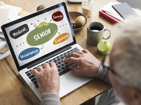seniority: Senior Investment Pension Retirement Plan Savings Concept