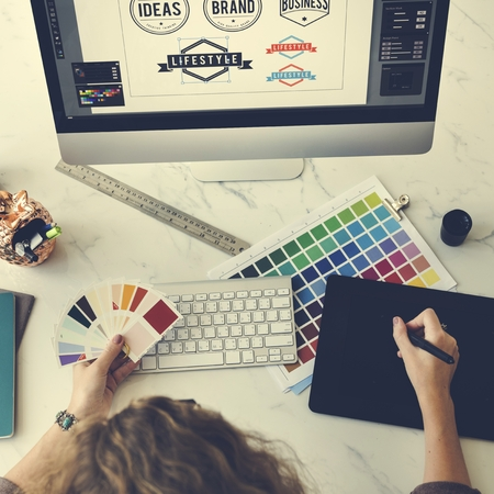 mousepad: Color Shade Swatch Stationary Designer Creative Concept