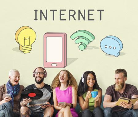 diversity domain: Internet Networking Connection Communication Icon Concept