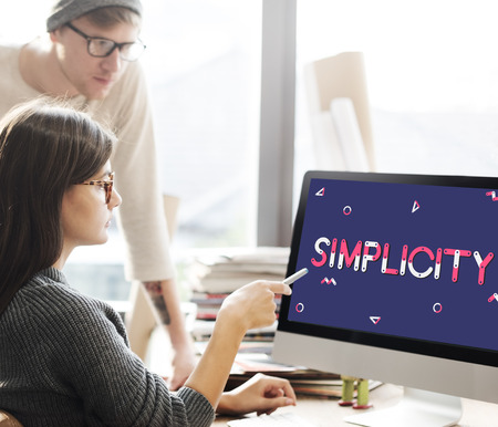 Simplicity concept on computer screen Stock Photo