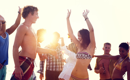 springbreak: Beach Party Freedom Vacation Leisure Activity Concept