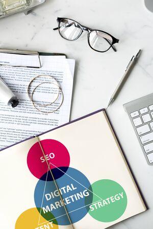 Business Branding Marketing Advertising Concept Reklamní fotografie