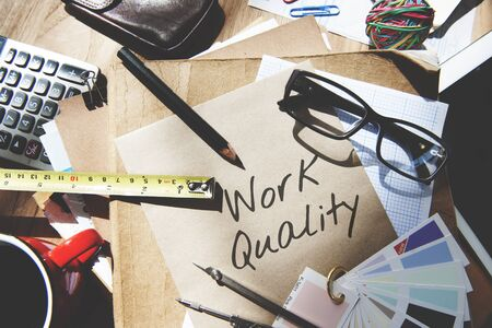 quality work: Work Quality Work Smarter Not Harder Efficient Concept