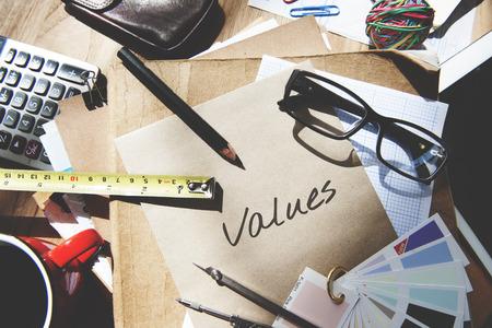 usefulness: Values Cost Price Vision Strategic Concept Stock Photo