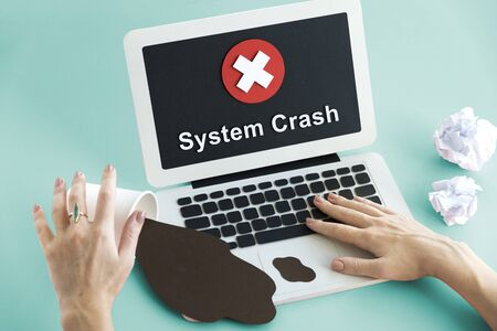 unavailable: Unsecured Unavailable Spyware Crash Denied Concept Stock Photo