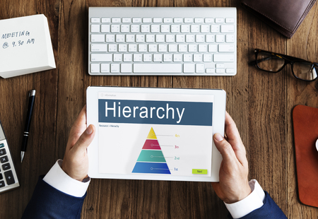 hierarchy: Hierarchy Organization Structure Position Chart Concept
