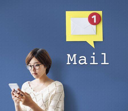 Message Notification Inbox Envelope Concept Stock Photo