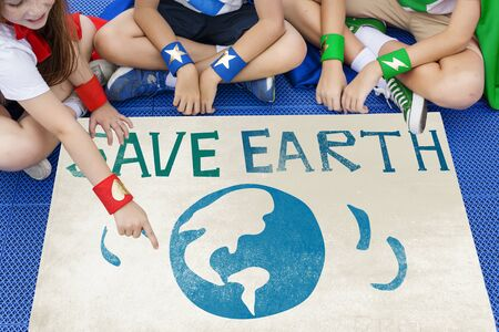 heros: Earth Day Globe Icon Concept