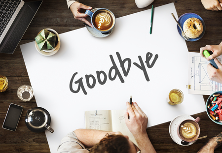 Goodbye Farewell Phrase Saying Leave Later Concept Stock Photo - 66345470