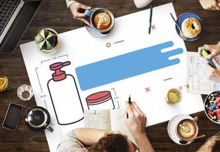 labelling: Product Design Creative Thinking Concept Stock Photo