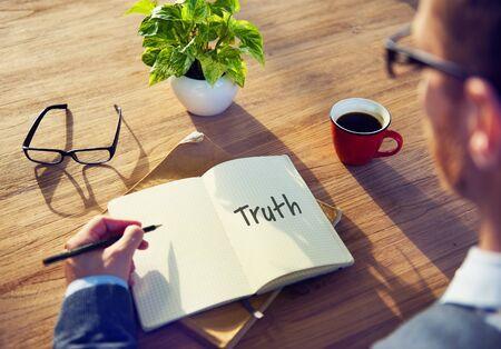 trustworthy: Truth Real Trustworthy Honesty Realistic Concept