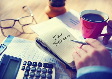 Tijd voor Belastingen Money Financial Accounting Belastingen Concept Stockfoto - 66176922