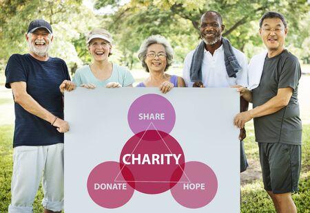 nonprofit: Charity Donations Support Volunteer Welfare Concept
