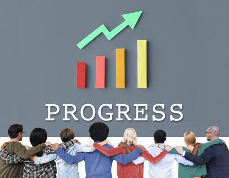 Finance Economic Progress Analysis Concept Stock Photo