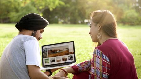 indian ethnicity: Indian Ethnicity People Interacting Concept Stock Photo