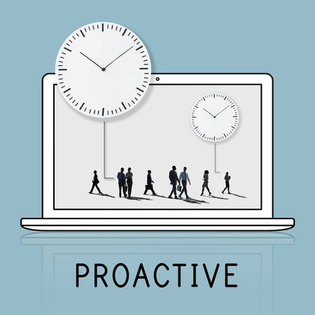 commitments: People Silhouette Time Management Concept