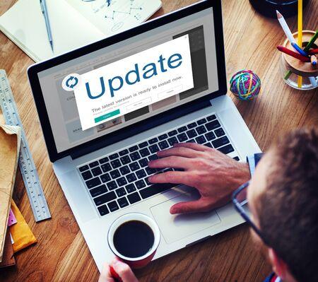 popup: Update Window Popup Alert Concept