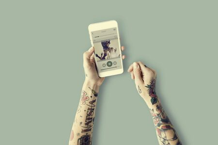 Playing Sound Audio Music Rhythm Art Melody Concept Stock Photo