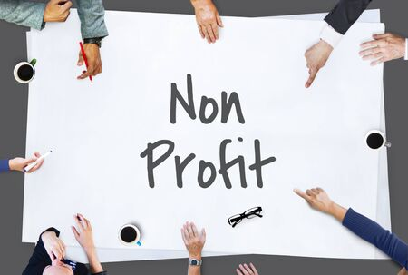 helping others: Non Profit Business Charity Donation Support Concept