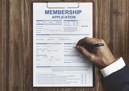 Membereship Application Form Register Concept