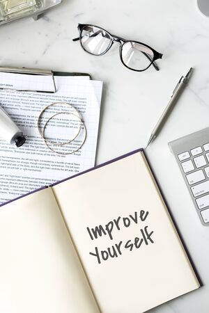 yourself: Improve Yourself Efficiency Motivation Concept
