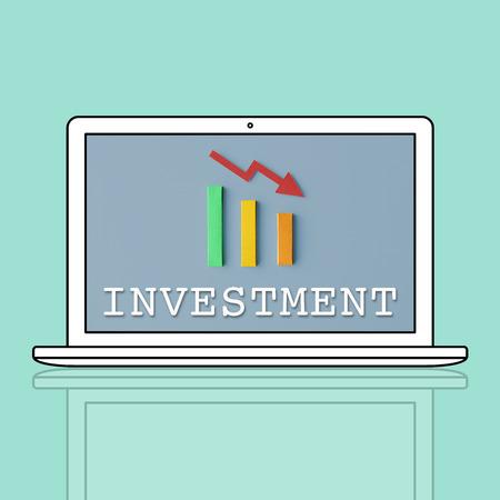 economic recession: Finance Economic Recession Analysis Concept