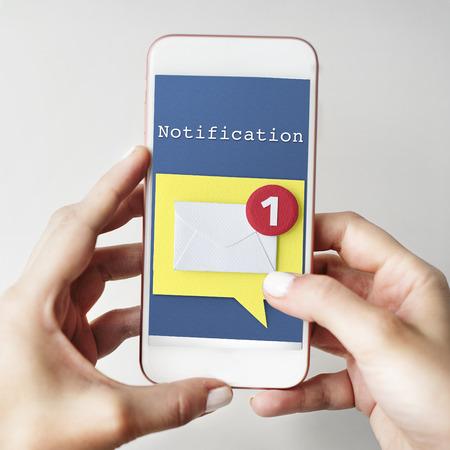 notification: Message Notification Inbox Envelope Concept Stock Photo