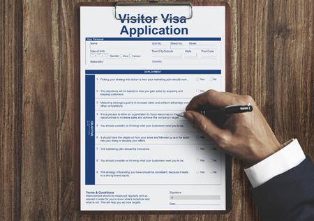 Visa application concept