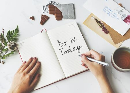 Do It Today Appointment Calendar Ideas Goals Concept Stock Photo