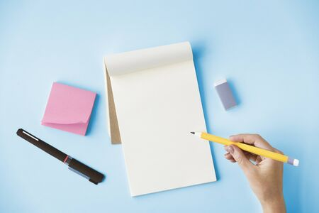 Blank Mockup Empty Page Diary Copy Space Concept Stock Photo