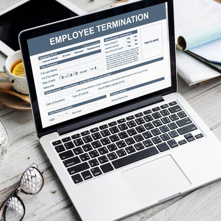terminate: Employee Termination Form Contract Concept