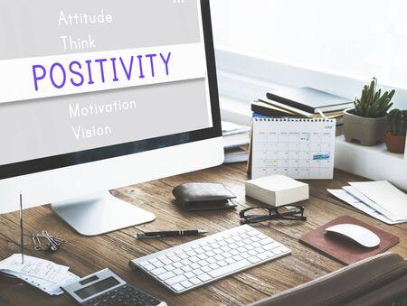 positivity: Positivity Simplify Attitude Motivation Concept