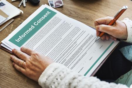 Einwilligungs Chirurgie Vereinbarung Beratungskonzept