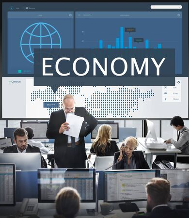 hectic: Economy Global Business Marketing Managment Concept